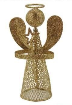 Anjo Aramado Dourado Luxo 7X5X13cm