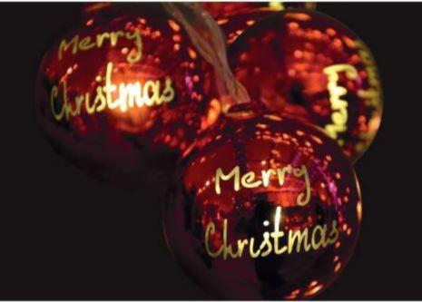 Bolas de Natal Iluminadas 6CM MERRY 10L 2,30M VM/WARM