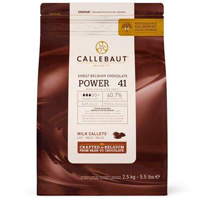 Chocolate Belga Callebaut Ao Leite Power 41 40,7% Cacau Gotas 2,5 Kgs