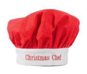 Chapéu Papai Noel Chef 30x24cm Veludo Vermelho