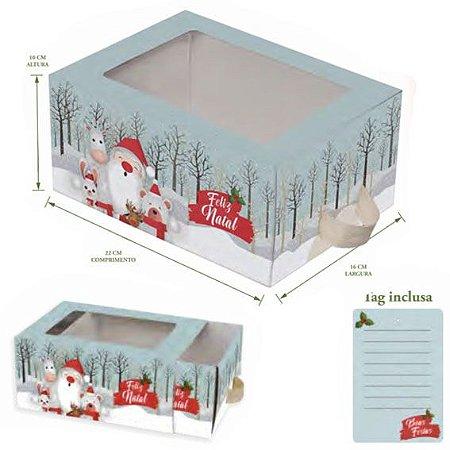 Caixa Natal c/ Gaveta Premium 16x22x10cm