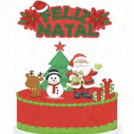 Topo de Bolo Feliz Natal