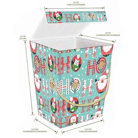 Caixa Natal Gourmet HO HO HO Tiffany (unidade)