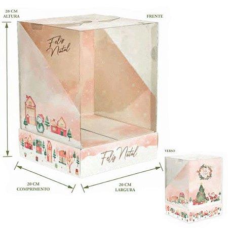 Caixa Panetone Presente Luxo 20x20x28cm