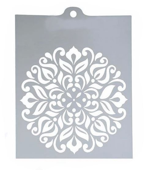 Stencil Mandala Floral Para Chantininho e Pasta Americana