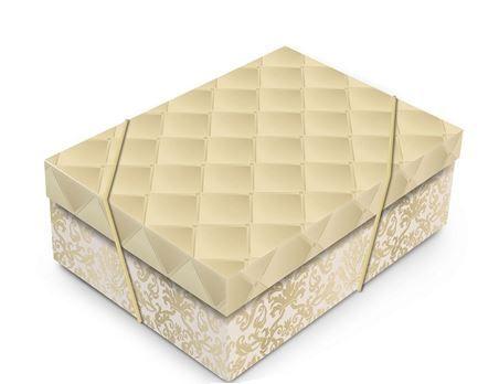 Caixa Luxuria Dourada G com Tampa 46x33x14cm (unidade)