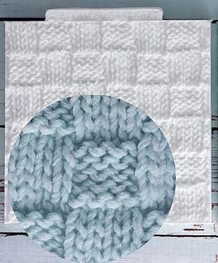 Molde Silicone Textura Tecido Inverno Tricot