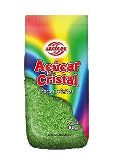 Açucar Cristal Verde 80 g Arcolor