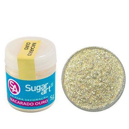 Pó p/ Decoração Sugar Art Nacarado Ouro 3 g