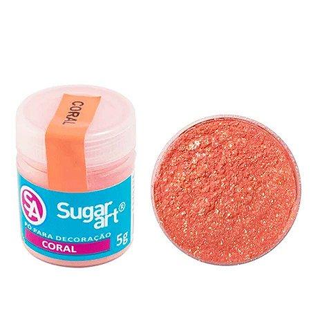 Pó p/ Decoração Sugar Art Coral 3 g
