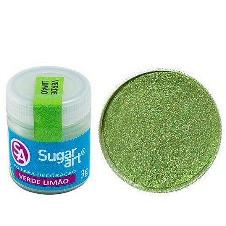 Pó p/ Decoração Sugar Art Verde Limão 3 g