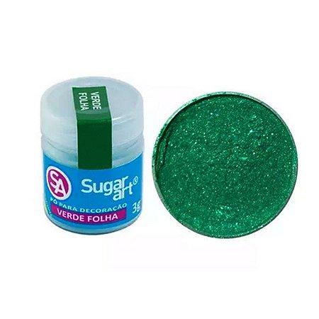 Pó p/ Decoração Sugar Art Verde Folha 3 g