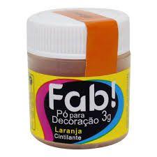 Pó p/ Decoração FAB Laranja 3g