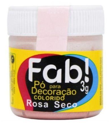 Pó p/ Decoração FAB Rosa Seco 3g
