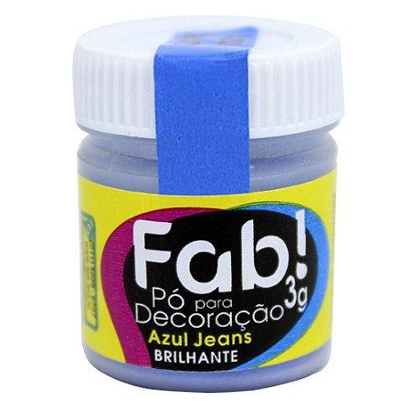 Pó p/ Decoração FAB Azul Jeans 3g