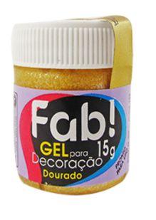 Gel p/ Decoração FAB Dourado 15g