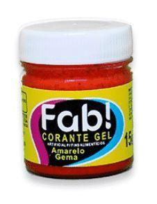 Corante Gel Amarelo Gema FAB 15 g