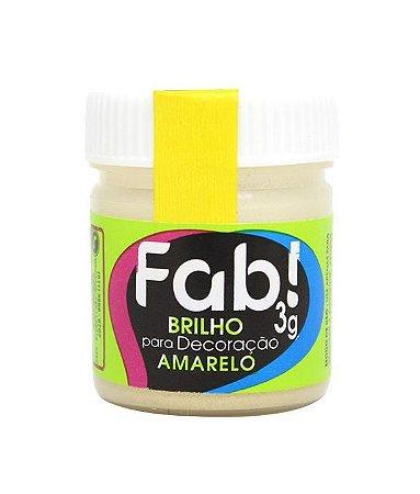 Brilho Glitter p/ Decoração Amarelo FAB 3g