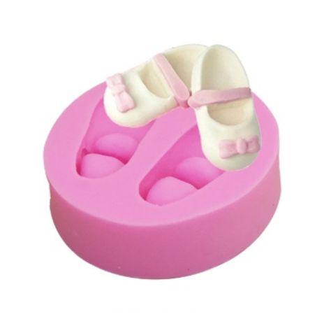 Molde Silicone Sapato de Boneca Vila da Confeitaria
