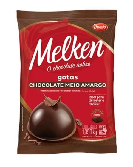 Chocolate Meio Amargo Melken Gotas 1,050 Kg