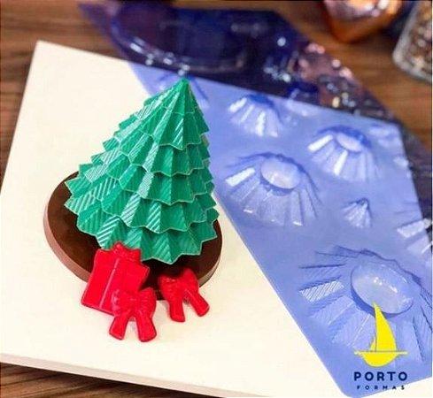 Forma Acetato Grande Arvore de Natal 3D Porto Formas