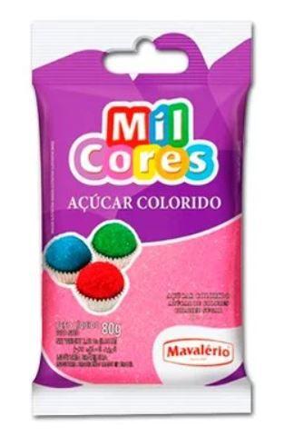 ACUCAR COLORIDO ROSA MILCORES 80 Gr