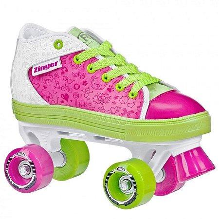 Patins Infantil Quad 4 Rodas Roller Derby Zinger Girl