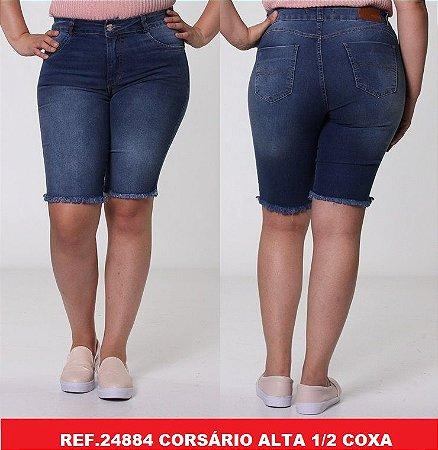 Corsário Jeans Biotipo Feminino Cós Alto Com Elastano - 24884