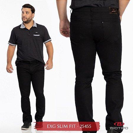 Calça Jeans Biotipo Masculina Slim Fit Extra Grande Com Elastano - 25455