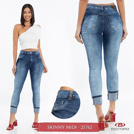 Calça Jeans Biotipo Feminina Skinny Cós Médio Com Elastano - 25762