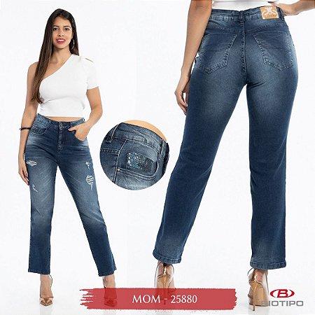 Calça Jeans Biotipo Feminina Mom Com Elastano - Cod25880
