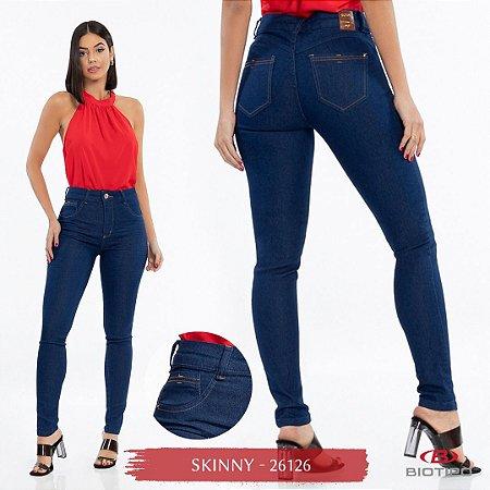 Calça Jeans Biotipo Feminina Skinny Cós Médio Com Elastano - 26126