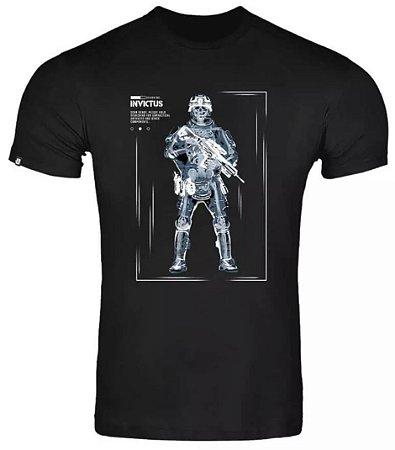 Camisa Invictus Concept Scanning preto