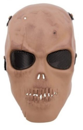 Mascara tática airsoft Caveira tela HY049TN