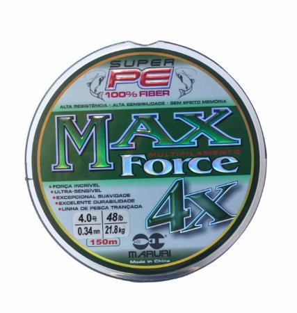 Linha multifilamento MAX FORCE 4X 0,40mm 150mt