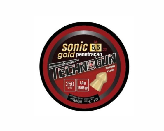 Chumbo Technogun Sonic Gold 5,5 c/125