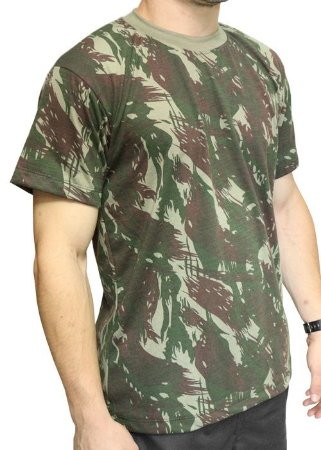 Camiseta Camuflada Manga Curta EB