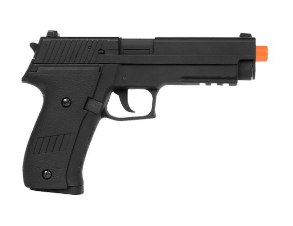 Pistola Airsoft CYMA elétrica CM.122 P226 METAL automática 6mm