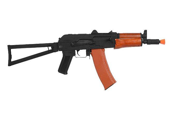 Rifle Airsoft AK74 6mm AK74U elétrico Cybergun Full Metal Kalashnikov