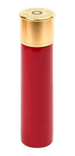 Garrafa termica inox shot shell munição vermelha Nautika