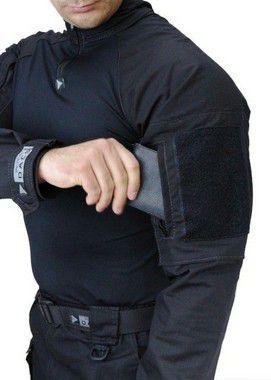 Blusa Tática Combat Shirt HRT Preta