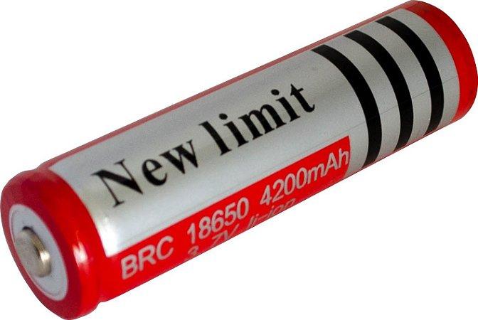 Bateria Lanterna 3,7v/4200mah Recarregável LI-ION