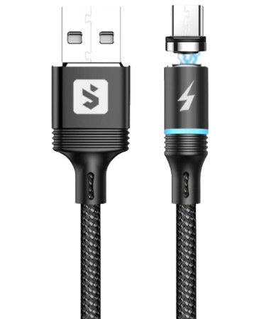Cabo Carregar Magnético 1m USB / Micro Usb - Android Trançado