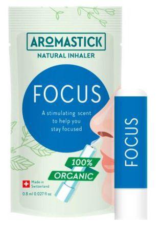 Inalador Nasal Orgânico Natural para Foco Aromastick - Focus