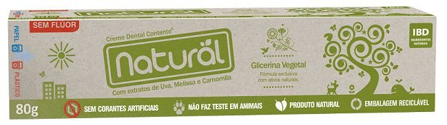 Creme Dental Natural Camomila 80g – Orgânico Natural