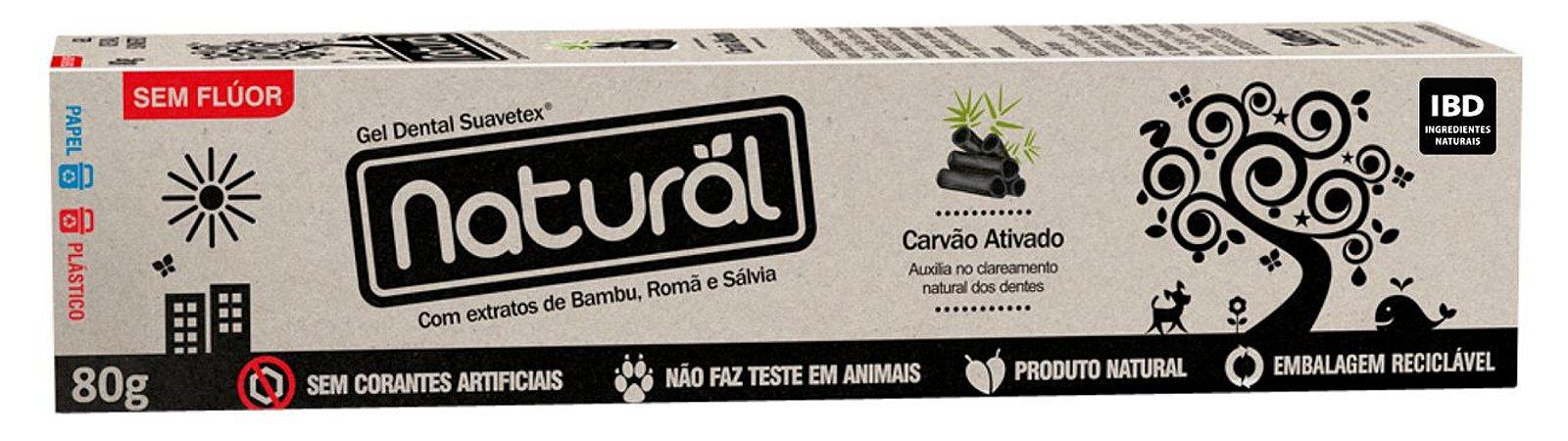 Creme Dental Natural Carvão Ativado com Extratos de Bambu, Romã e Sálvia 80g – Orgânico Natural