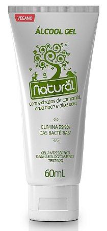 Álcool em gel 70% com extratos orgânicos de camomila, erva-doce e aloe vera 60mL - Orgânico Natural
