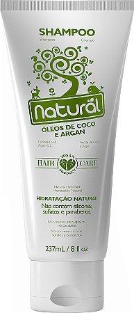 Shampoo Natural com Óleos de Coco e Argan 237mL - Orgânico Natural