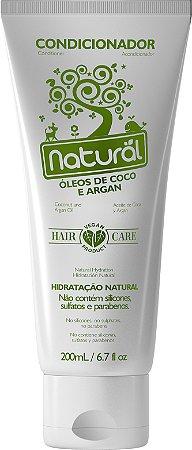 Condicionador Natural com Óleos de Coco e Argan 200mL - Orgânico Natural