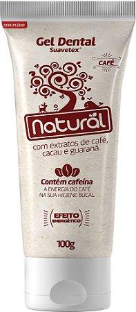 Gel Dental Natural Suavetex com extratos de Café, Cacau e Guaraná - Orgânico Natural